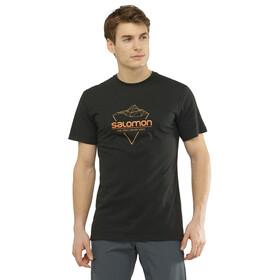Salomon Blend Logo Maglietta A Maniche Corte Uomo, black/cumin/apricot o